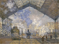 The Saint-Lazare Station I painting reproduction, Claude Monet
