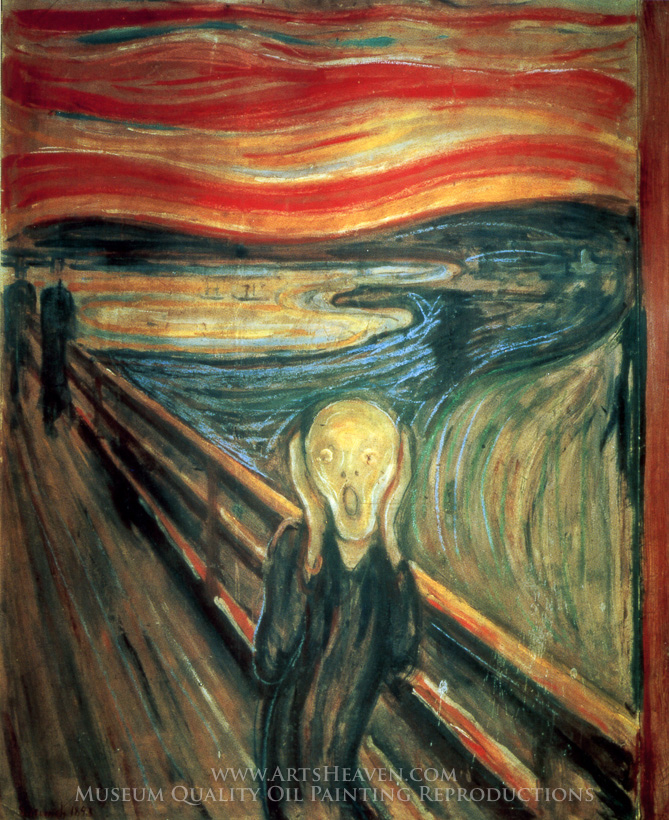 reproduction painting edvard munch the scream  hand rudolph antlers clip art rudolph images clip art