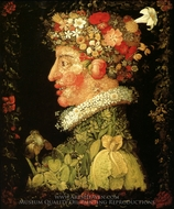 The Seasons: Spring painting reproduction, Giuseppe Arcimboldo