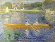 The Seine at Asnieres (The Skiff) painting reproduction, Pierre-Auguste Renoir