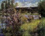 The Seine at Chatou painting reproduction, Pierre-Auguste Renoir