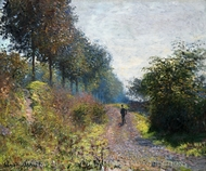 The Sheltered Path painting reproduction, Claude Monet