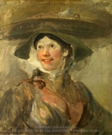 The Shrimp Girl painting reproduction, William Hogarth