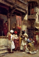 The Silk Merchants painting reproduction, Edwin Lord Weeks