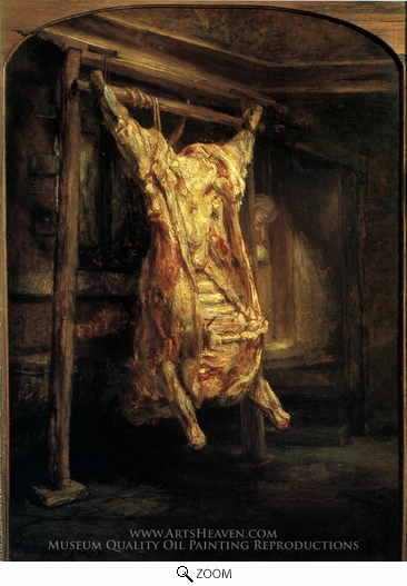 Rembrandt Van Rijn, The Slaughtered Ox oil painting reproduction