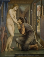 The Soul Attains painting reproduction, Edward Burne-Jones
