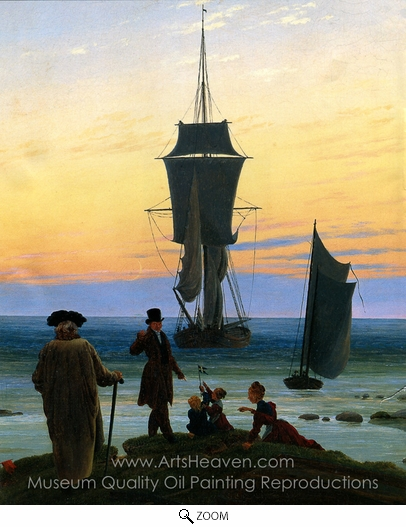 Caspar David Friedrich, The Stages of Life oil painting reproduction