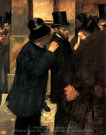 The Stock Exchange painting reproduction, Edgar Degas