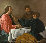 The Supper at Emmaus painting reproduction, Diego Vel�zquez