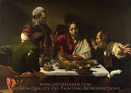 The Supper at Emmaus painting reproduction, Caravaggio