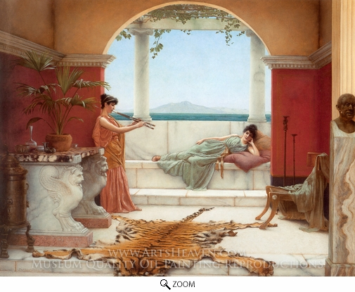 John William Godward, The Sweet Siesta of a Summer Day oil painting reproduction