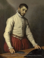 The Tailor (Il Tagliapanni) painting reproduction, Giovanni Battista Moroni