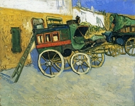 The Tarascon Diligence painting reproduction, Vincent Van Gogh