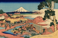 The Tea Plantation of Katakura in the Suruga Province painting reproduction, Katsushika Hokusai