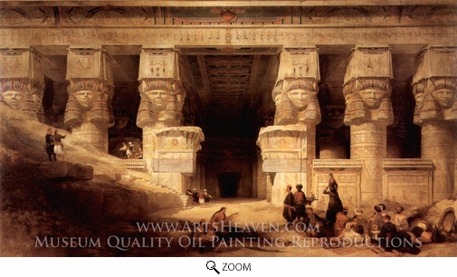 David Roberts, The Temple at Dendera oil painting reproduction