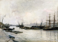 The Thames, London painting reproduction, Jules Bastien-Lepage