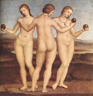 The Three Graces painting reproduction, Raphael Sanzio