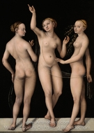 The Three Graces painting reproduction, Lucas Cranach