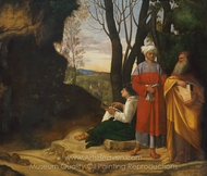 The Three Philosophers painting reproduction, Giorgione