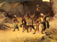 The Tiger Hunt painting reproduction, Rudolph Ernst