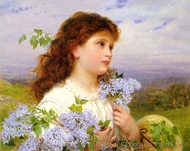 The Time of the Lilacs painting reproduction, Sophie Gengembre Anderson