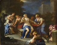 The Toilet of Bathsheba painting reproduction, Luca Giordano