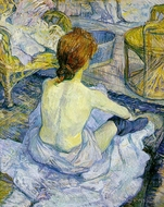 The Toilette painting reproduction, Henri De Toulouse-Lautrec