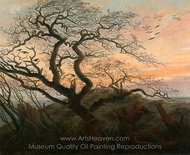 The Tree of Crows painting reproduction, Caspar David Friedrich