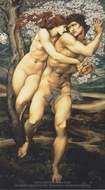 The Tree of Forgiveness painting reproduction, Edward Burne-Jones