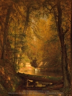 The Trout Pool painting reproduction, Worthington Whittredge