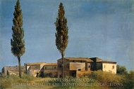 The Two Poplars painting reproduction, Pierre Henri De Valenciennes