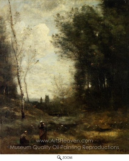 Jean-Baptiste Camille Corot, The Valley oil painting reproduction