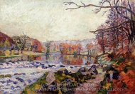 The Valley of the Creuse painting reproduction, Armand Guillaumin