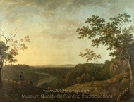 The Valley of the Dee, with Chester in the Distance painting reproduction, Richard Wilson