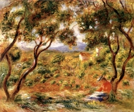 The Vines at Cagnes painting reproduction, Pierre-Auguste Renoir