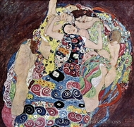 The Virgin painting reproduction, Gustav Klimt