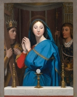 The Virgin Adoring the Host painting reproduction, Jean Auguste Dominique Ingres