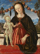 The Virgin and Child painting reproduction, Fiorenzo Di Lorenzo