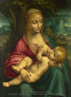 The Virgin and Child painting reproduction, Leonardo Da Vinci
