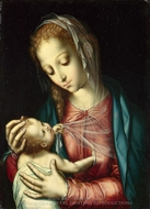 The Virgin and Child painting reproduction, Luis De Morales