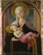 The Virgin and Child painting reproduction, Filippino Lippi