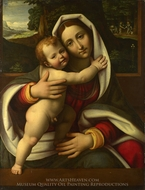The Virgin and Child painting reproduction, Andrea Solario