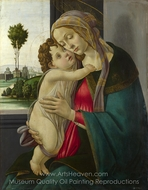 The Virgin and Child painting reproduction, Sandro Botticelli