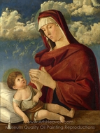 The Virgin and Child painting reproduction, Giovanni Bellini