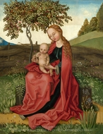 The Virgin and Child in a Garden painting reproduction, Martin Schongauer
