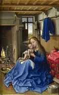 The Virgin and Child in an Interior painting reproduction, Robert Campin