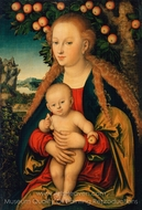 The Virgin and Child Under an Apple Tree painting reproduction, Lucas Cranach