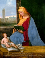 The Virgin and Child with a View of Venice painting reproduction, Giorgione