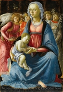 The Virgin and Child with Five Angels painting reproduction, Sandro Botticelli