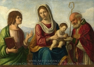 The Virgin and Child with Saints painting reproduction, Cima Da Conegliano